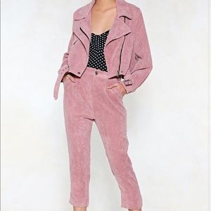 Nasty Gal maybe/purple corduroy pant set